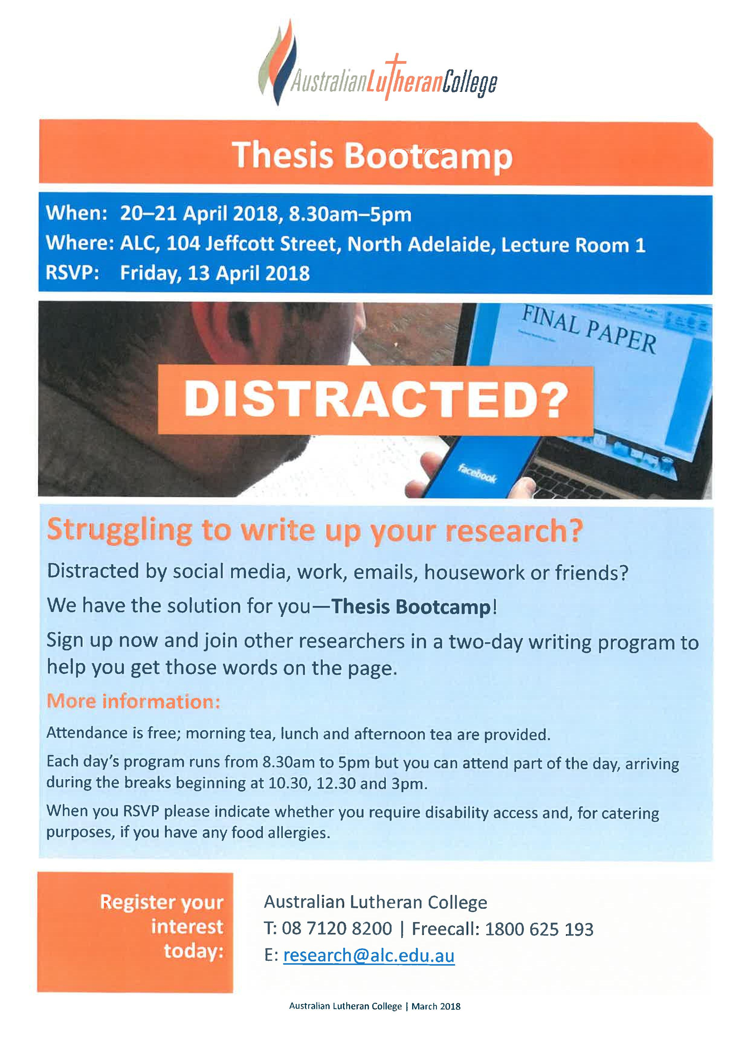 Dissertation bootcamp